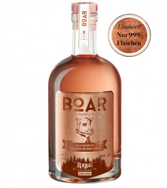 Boar Gin Royal limited Edition 999 Flaschen Roter Burgunder Wein