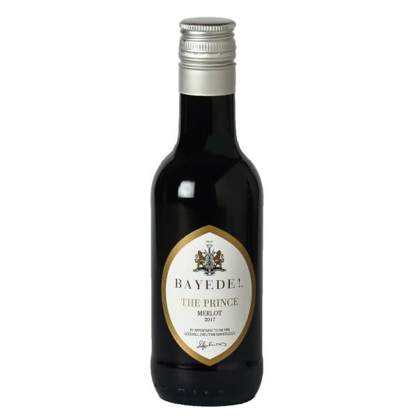 BAYEDE! The Prince Merlot 2017 Südafrika Miniflasche 187ml | 2017
