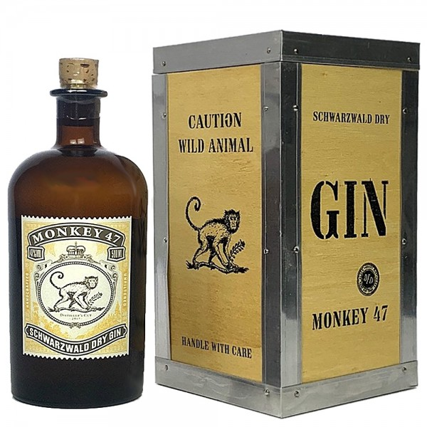 Monkey 47 Schwarzwald Gin 47% - Distillers Cut 2017 in Holzbox | Intra Wine and Spirits