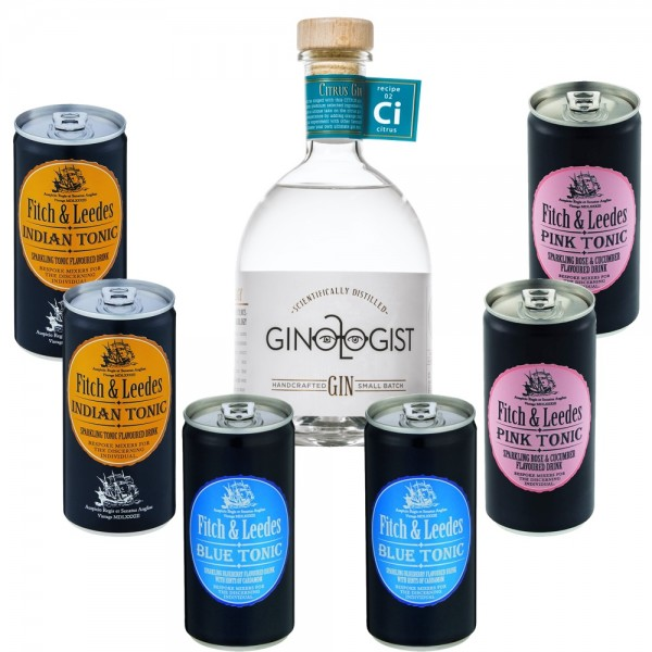 GINOLOGIST Citrus Gin aus Südafrika mit Fitch and Leedes Tonic Water