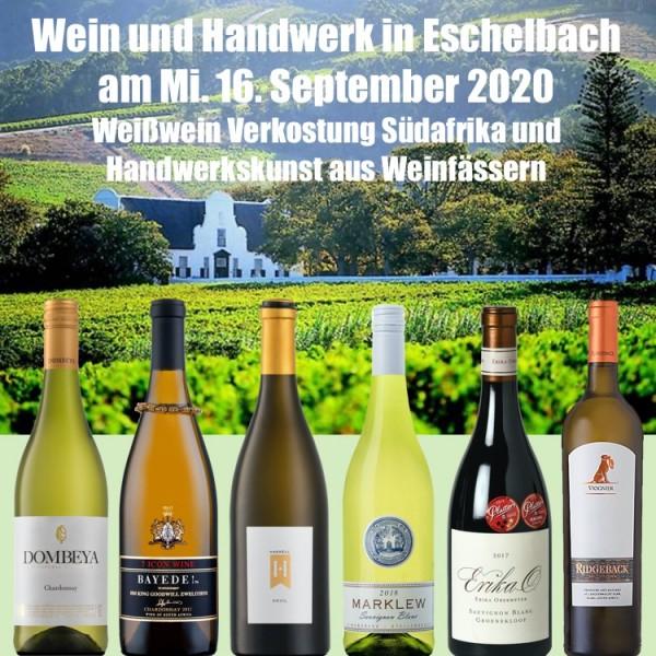 rebsortenreine Weissweine aus Südafrika Wine Tasting