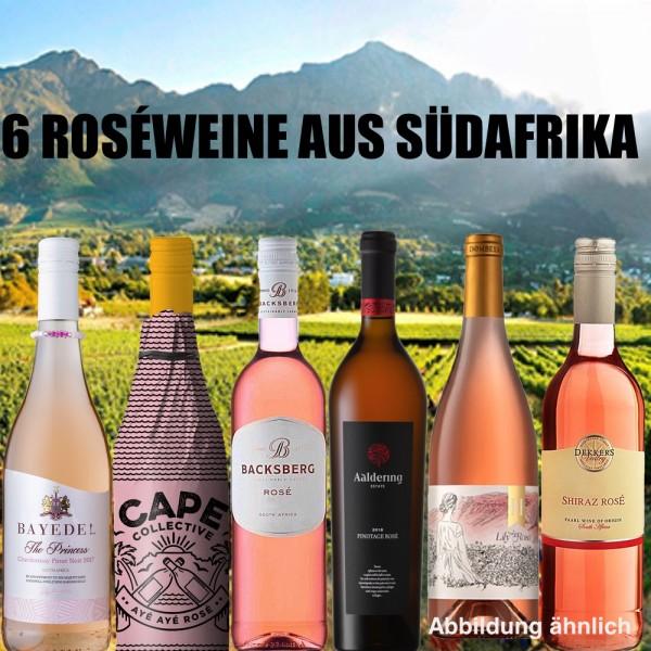 Probierpaket: 6 Roséweine aus Südafrika