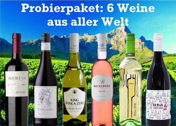 Probierpaket 6 Weine aus aller Welt