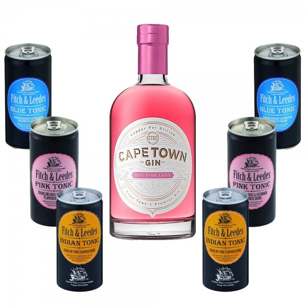 Tasting Probierpaket Cape Town Gin mit 6 Fitch and Leedes Tonic