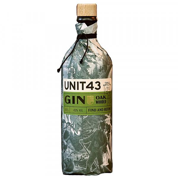 Unit43 Oak Wooded Gin Südafrika wrapped bottle