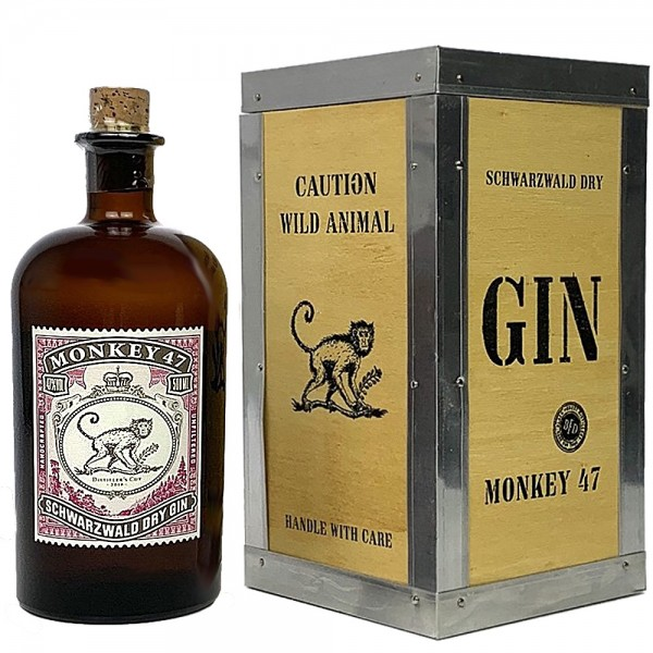 Monkey 47 Schwarzwald Gin - Distillers Cut 2018 in Holzbox | Intra Wine and Spirits